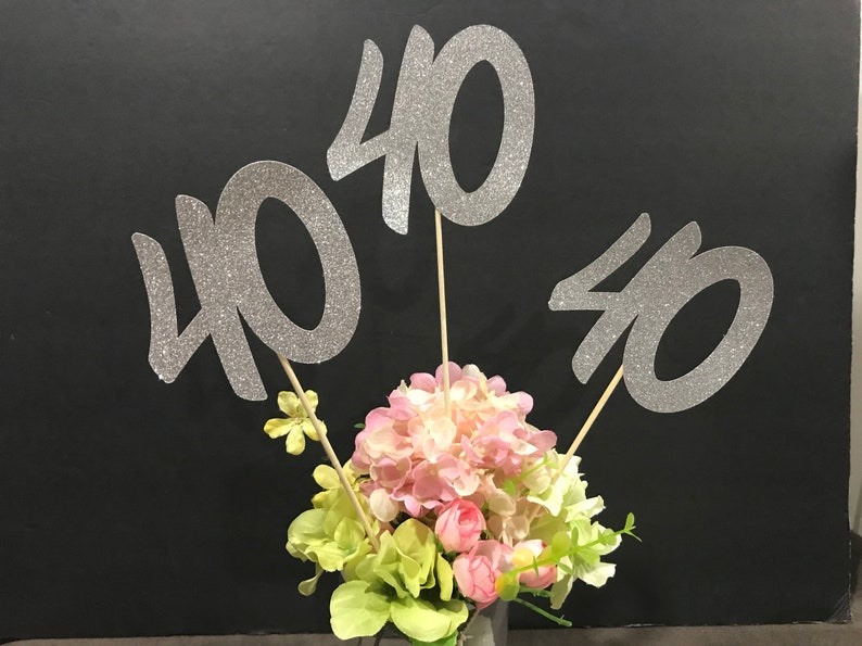 40th Birthday Party Decorations Centerpiece