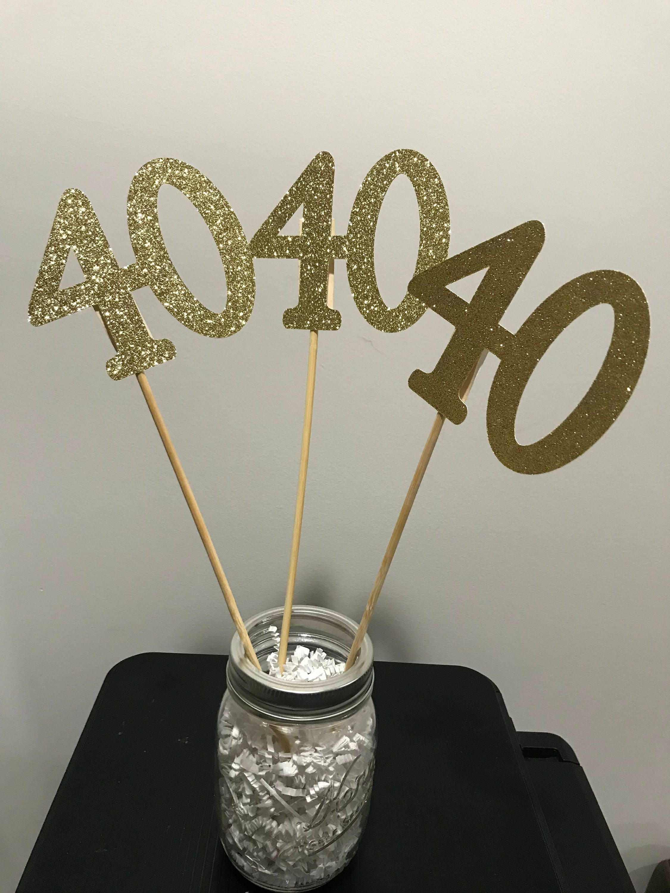 40th Birthday Table Decorations Age Cutouts 1