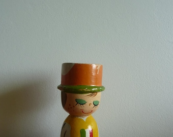 Old small C wooden egg Cup