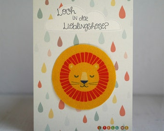Sew-on patches LION bio