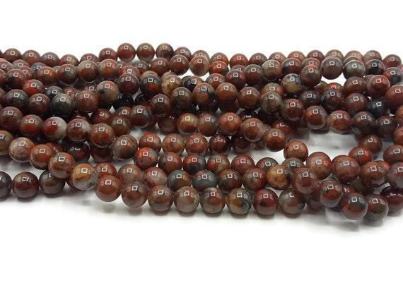 Jaspe Rouge 10 ou 100 Perles au Choix 6//8//10mm