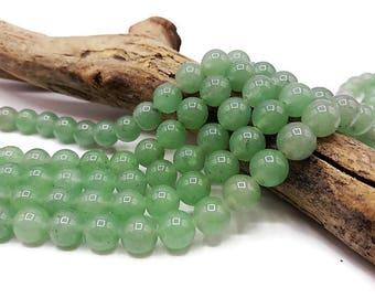 50 aventurine beads 8 mm, natural stone, semi precious - gem stone - A022