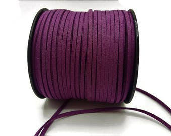 3 m - 3 mm * 1.4 mm - purple suede A187