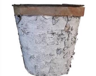 Birch Bark and Tin Sap Bucket