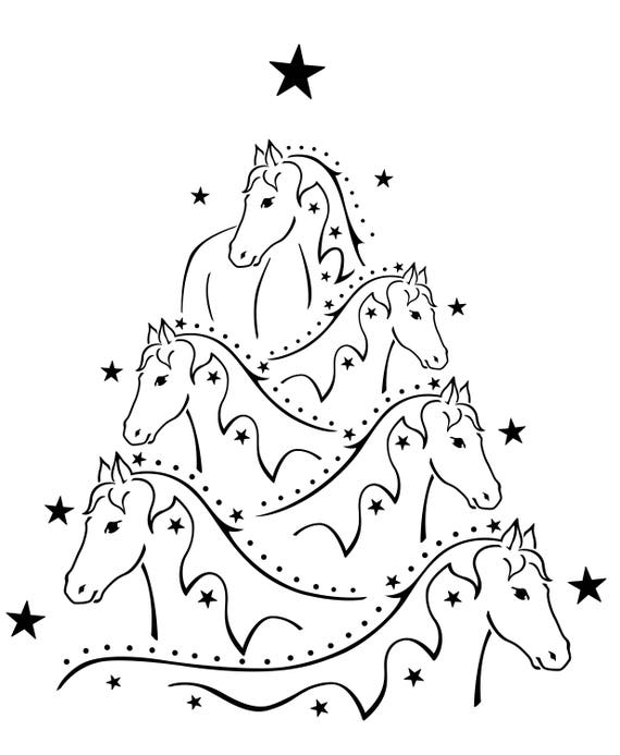 Christmas Tree Ornaments Horse: Horse Christmas Tree