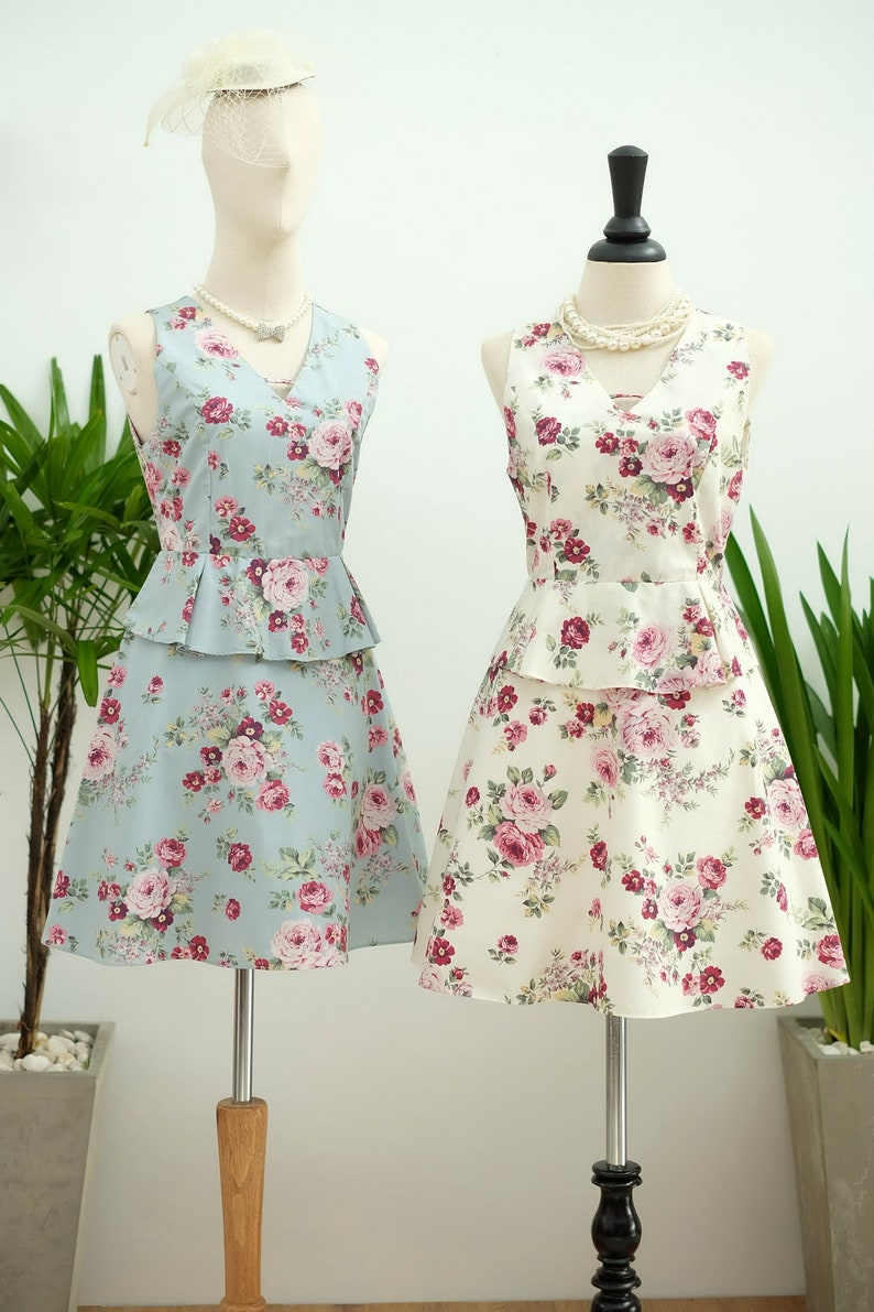 861e90346f79 SALE White dress white floral dress white sundress floral | Etsy