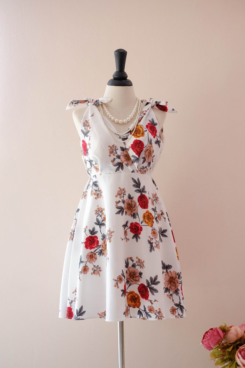 1301940912d1 SALE White dress floral beach dress floral bridesmaid dresses | Etsy