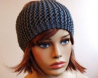 Ear warmer, grey headband, wool headbands, Womens headband, Winter Headband for women, knitted ear warmer, gift for wife, women's clothing