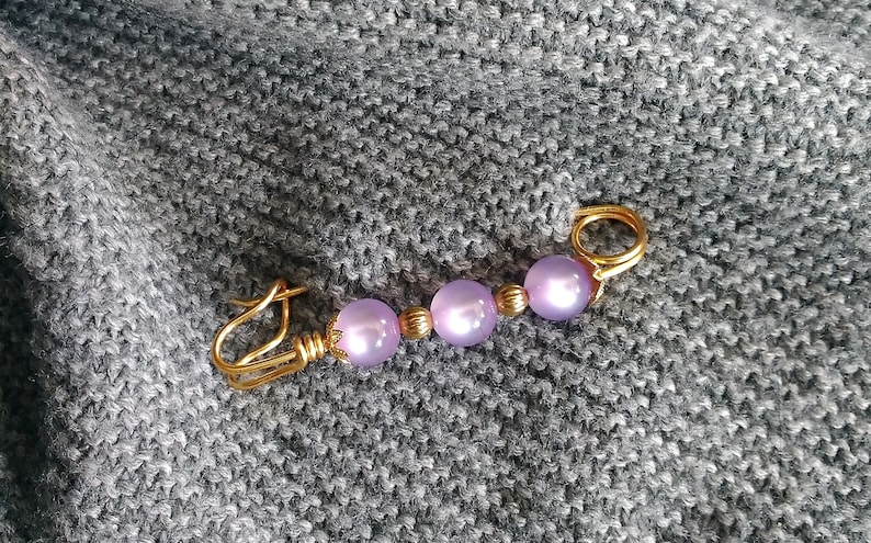 gifts purple Anniversary gift sweater pin Gift for her elegant brooch sweater clip brooch Shawl pin lilac for women scarf pin