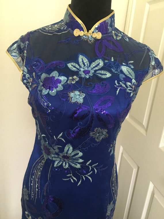 Vintage cheongsam gown