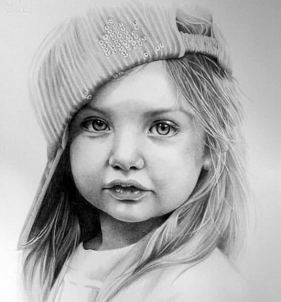 Custom Portrait Drawing Custom Pencil Drawing Custom | Etsy