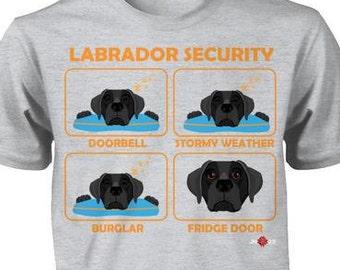 Funny Labrador Shirt   Labrador Security   Black Lab     Funny Labrador Gift Idea