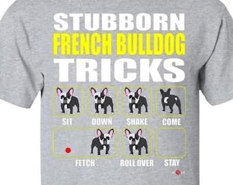 keep Calm Design Cute Bulldog Francese T-shirt Può Essere Personalizzato