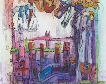 Farm - Abstract Art