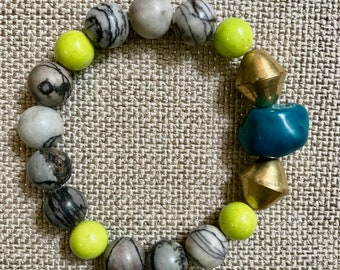 Mirabel Teal & Lime Bracelet