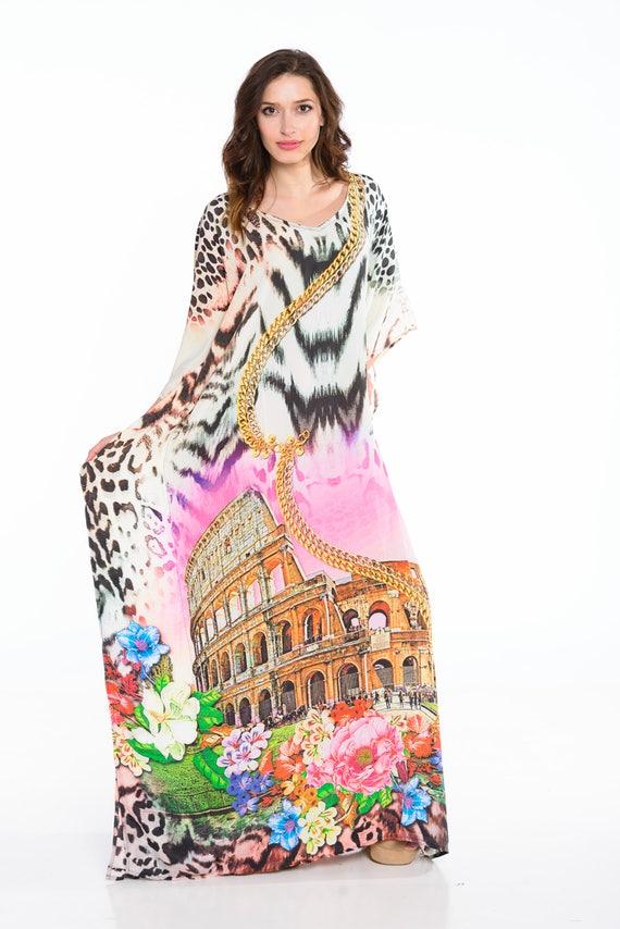 hippie dress, kaftan, caftan, maxi dress, plus size clothing, gypsy, boho,  maternity clothing, beach dress, cruise, holiday
