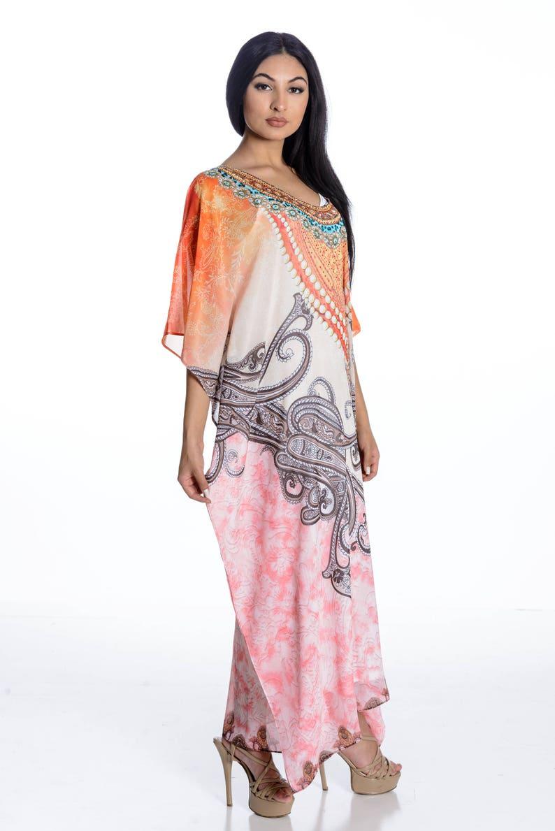 17d4a2b741 Kaftan dress caftan maxi dress in georgette regular/ plus size | Etsy
