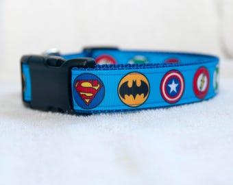 "Super Hero 1"" Dog Collar"
