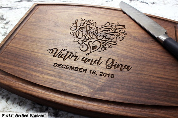 Custom Cutting Board Engagement W-037GB Wedding Gift Housewarming Gift Family Tree of Life Personalized Cutting Board Anniversary Gift Engraved Cutting Board