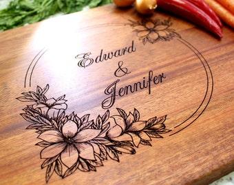 Personalized Cutting Board - Engraved Cutting Board, Custom Cutting Board, Wedding Gift, Housewarming Gift, Anniversary Gift W-013 GB