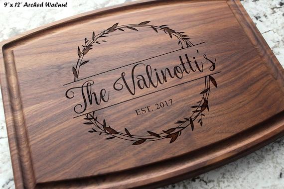 Anniversary Engraved Wedding Birthday Closing Gift #407 Housewarming Personalized Custom Keepsake Cutting Board Engagement Corporate