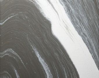 Acrylic Pouring Canvas - grey & white