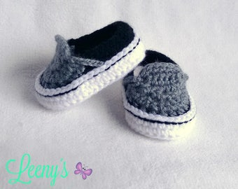 Baby Vans Shoes in Any Color / Crochet Baby Sneakers
