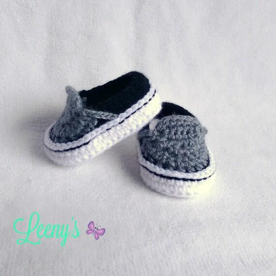 Zapatos Vans de Bebé en Cualquier Color / Crochet Zapatitos de | Etsy