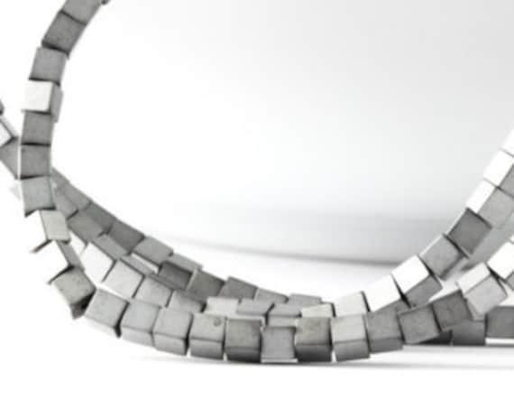 Pcs Gemstones DIY Jewellery Hematite Non Magnetic Cube Beads 3mm Rainbow 130