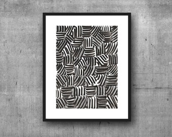 Black and White Pattern, Abstract Black and White Art, Black and White Art Print, Abstract Print, Minimalist Art, 8 x 10, 11 x 14