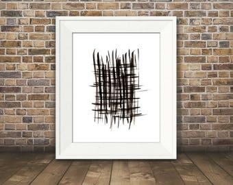 Expression #2, Abstract Black and White Art, Black and White Art Print, Minimalist Art, 8 x 10, 11 x 14