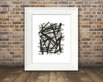 Expression #1, Abstract Black and White Art, Black and White Art Print, Minimalist Art, 8 x 10, 11 x 14