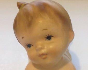 Vintage Napco Piano Baby Ceramic Figurine, Napco Ceramics, Mid Century Modern Decor, Baby Showers, Nursery Decor