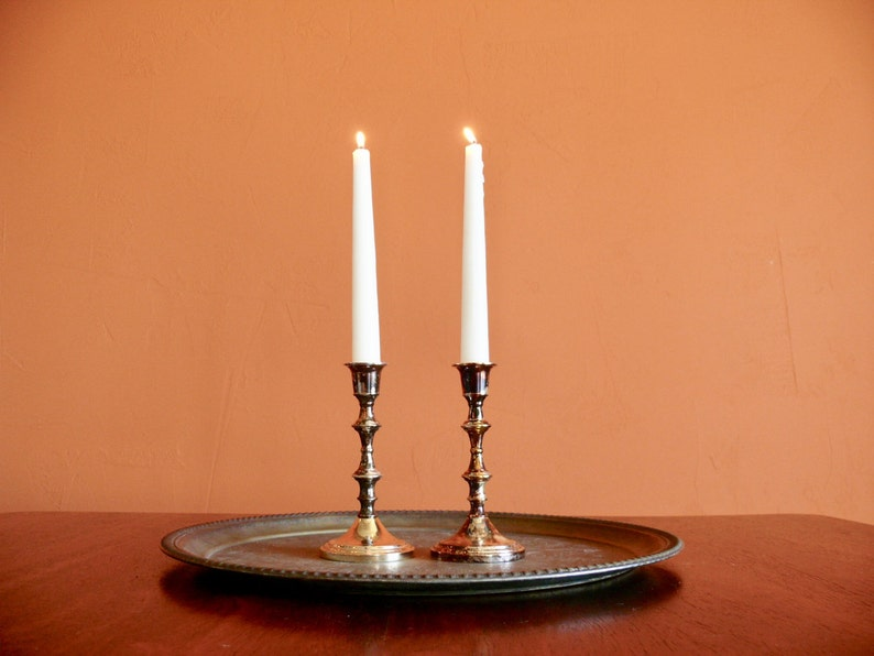 Vintage Glass Taper Candlestick Candle Holder Centerpiece Dinner Wedding Decor