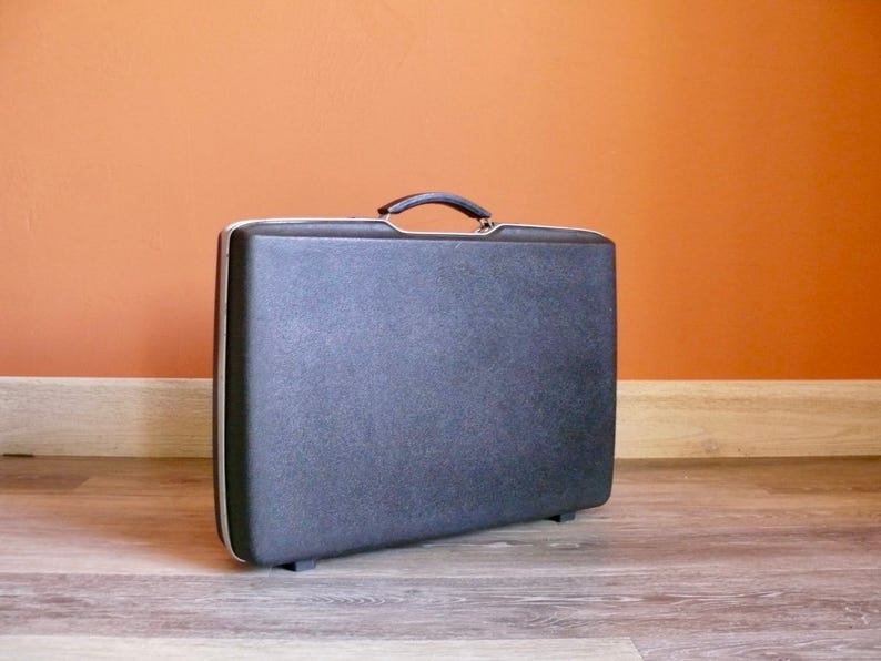 f469b6970 Retro Black Royal Traveler Slim Briefcase Samsonite 3 | Etsy