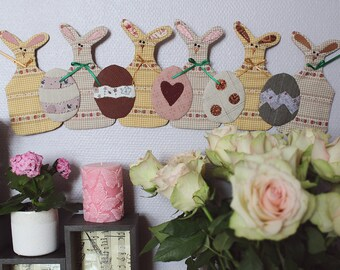 Easter rabbits with eggs
