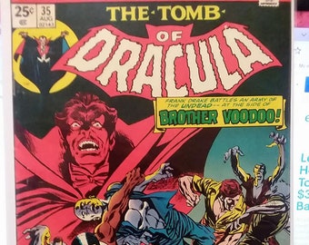 The tomb of dracula issue 35//bronze age//marvel comics//1972//fine/very fine condition