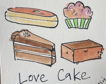 Love Cake Illustration