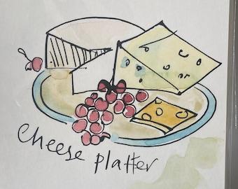 Cheese Platter Illustration