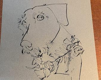 Pen & Ink Pet Illustration