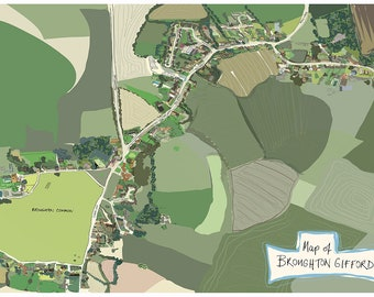 Broughton Gifford Map A3
