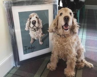Higgledy Ink Pet Portrait, Dog Portrait, Cat Portrait, Pet Portraits, Custom Pet Portrait, Perfect Gift for Pet Lovers,