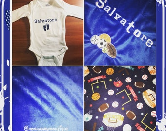 All Sports Theme Baby Boy Blanket
