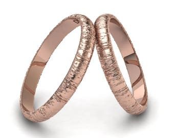 18k pink gold alliances, couples alliances, engagement rings, men's rings, women's rings, gold rings, wedding rings