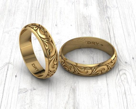 Vintage Ringen In Gelbgold 18 K Ring Fur Paare Hochzeit Etsy