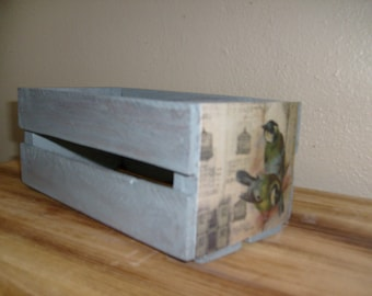 Wooden Crate, Storage Crate, Small Decorative Crate, Gray Crate,  Wood Crate, Small Wood Crate, Silver Gray Rustic Crate, Shabby Chic Crate