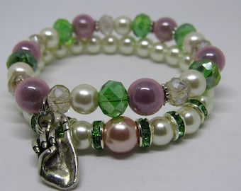 "Ladies ""AKA"" Sorority bracelets"