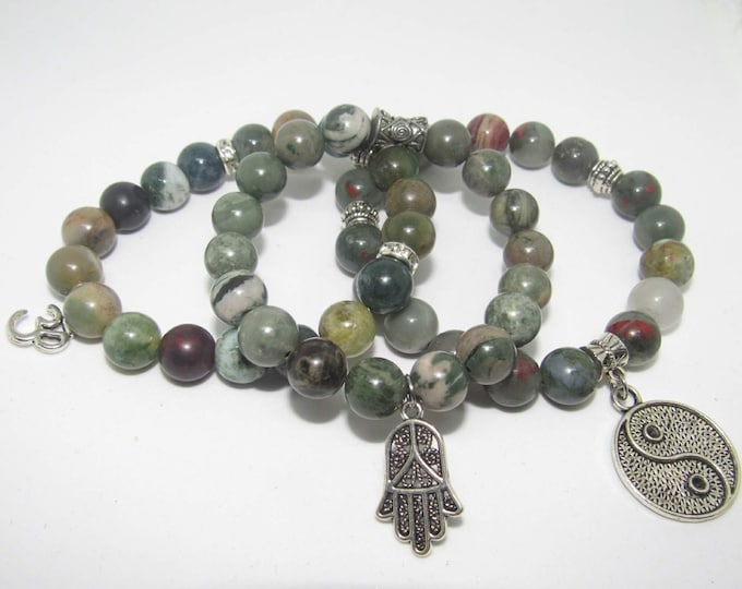 Fancy Jasper Earth Tone Bracelet