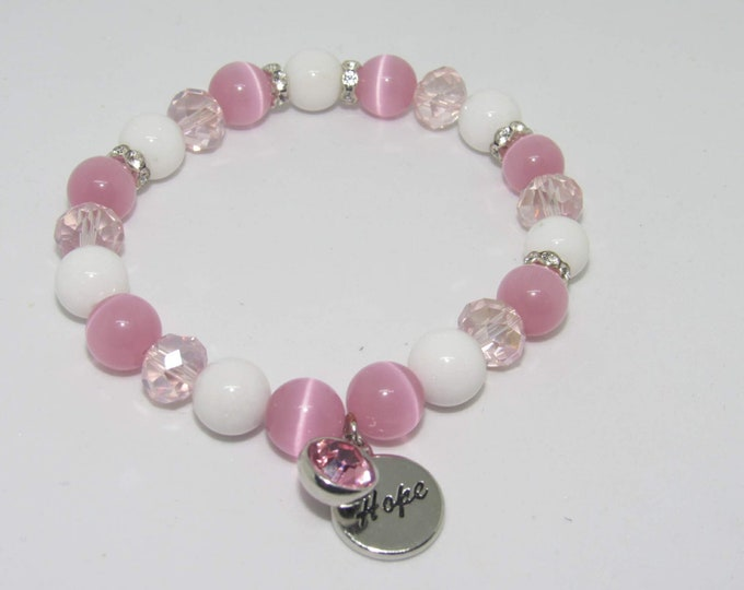 Ladies Breast Cancer Awareness Bracelets
