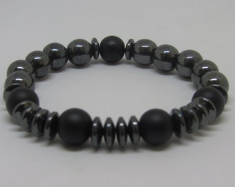 Men's Hematite Flex Energy Bracelet